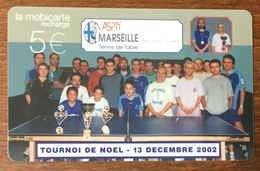 13 MARSEILLE ASPTT PING PONG TENIS DE TABLE MOBICARTE COLLECTOR 5 EURO PHONECARD CARD - Frankreich