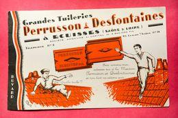 Buvard Tuilerie PERRUSSON & DESFONTAINES  à Écuisses, Saône Et Loire - Papel Secante