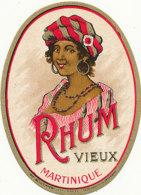 1131 / ETIQUETTE -   RHUM - VIEUX MARTINIQUE  N° 633 - Rhum