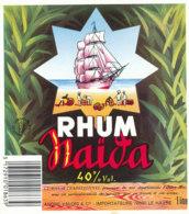 1165 / ETIQUETTE -   RHUM - NAIDA   ANDRE VALOIS LE HAVRE - Rhum