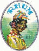 1171 / ETIQUETTE -   RHUM - 35°  G.  L. - Rhum