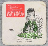 Sous-bock GUEUZE DE NEVE Asse Mouettemolen Payottenland Molens Van Brabant Moulins Du Brabant (moulin) (CX) - Sous-bocks