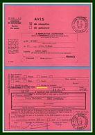 Laon Champagne (Aisne 02 ) Type A 9 1977 + Linéaire GA Annexe / Avis De Réception Lettre - Otros