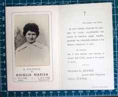 Necrologio Luttino - GHIGLIA MARINA (nascita 1946 Morte 1962) Monastero Bormida Asti - Décès
