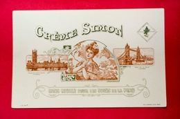 Buvard CRÈME SIMON, Palais De Westminster, Pont De La Tour, Londres - Parfum & Cosmetica