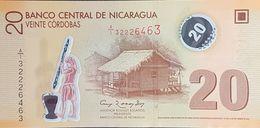 SF0610 - Nicaragua 20 Cordobas Banknote 2012 #A/1 3226463 UNC Polymer - Nicaragua