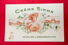 Buvard CRÈME SIMON, Notre Dame De Paris, Trocadéro, Version Espagnole - Parfums & Beauté