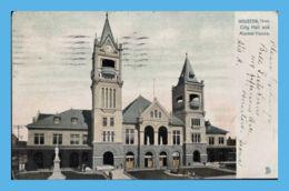 Vintage Postcard - Houston (TX - Texas) - City Hall And Market House - Houston