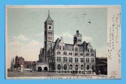 Vintage Postcard - Nashville  (TN - Tennessee) - 7014. Union Station - Nashville