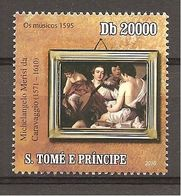 S.TOME' & PRINCE - 2010 4° Cent. Morte CARAVAGGIO I Musici Nuovo** MNH - Arts