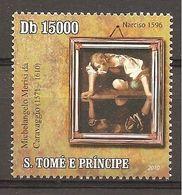 S.TOME' & PRINCE - 2010 4° Cent. Morte CARAVAGGIO Narciso Nuovo** MNH - Arts