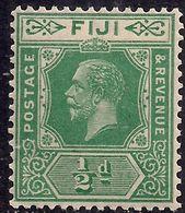 Fiji 1922 - 27 KGV 1/2d Green Umm SG 229 ( E874 ) - Fiji (...-1970)