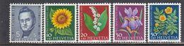Switzerland 1961 - Pro Juventute: Flowers, Mi-Nr. 742/46, MNH** - Suisse