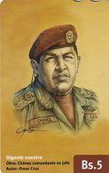 VENEZUELA - Chávez Comandante En Jefe, CANTV Magnetic Telecard Bs.5, 06/14, Used - Venezuela