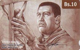VENEZUELA - Chávez En La Cruz, CANTV Magnetic Telecard Bs.10, 06/14, Used - Venezuela