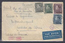 Censuur Brief Van Westerloo Via Rio De Janeiro Naar Cândido De Abreu - 1936-1951 Poortman
