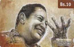 VENEZUELA - Painting, Llovió En Verano, CANTV Magnetic Telecard Bs.10, 06/14, Used - Venezuela