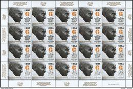 Argentina - 2019 - Feuille De 20 Timbres - Mahatma Ghandi - Mahatma Gandhi