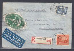Brief Van Antwerpen 1 Naar Montevideo (Uruguay) Correos De La Republica Oriental Del Uruguay - 1936-1951 Poortman