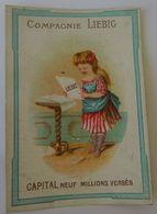 CHROMO LIEBIG  S8 - IMAGES AVEC SUJETS DIVERS 1872-1873. CAPITAL NEUF MILLIONS VERSES. - Liebig