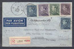 Censuur Brief Van Liege 11 Naar Asuncion (Paraguay) - 1936-1951 Poortman