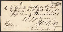 PREUSSEN Ra1 SPANDAU Seltener Stempel Militaria Brief Mit Kpl. Inhalt (rh20) - Pruisen