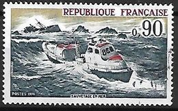 FRANCE    -   1974 .    Y&T N° 1791 Oblitéré.    Sauvetage En Mer  /  Bateau - France