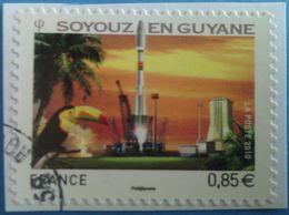 France 2010  : Espace. Décollage De La Fusée Russe Soyouz En Guyane N° 470 Oblitéré - Francia