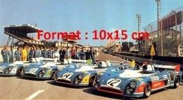 Reproduction D'une Photographie De Matra MS 670 Aux 24 Heures Du Mans De 1973 - Repro's