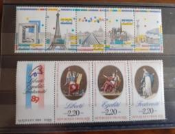 LOT BANDE NEUF** MONUMENTS PARIS ET DECLARATION DROITS DE L'HOMME - France