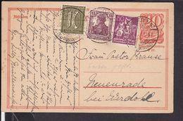 Ganzsache Deutsches Reich  Stempel Crengeldanz , Geprüft   1922  (gi64) - Germania