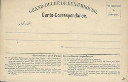 Luxembourg  -  CARTE POSTALE  -  POSTKARTE  -  CARTE - CORRESPONDANCE  1870  Prefix I : II - Marcophilie - EMA (Empreintes Machines)