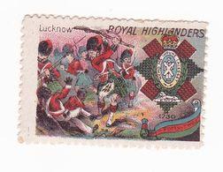 Vignette Militaire Delandre - Angleterre - Royal Highlanders - Commemorative Labels