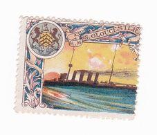 Vignette Militaire Delandre - Angleterre - Marine - H.M.S. Gloucester - Commemorative Labels