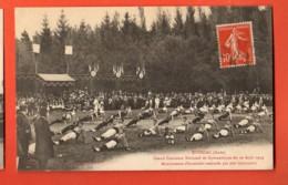 ZAR-35  Estissac Aube. Grand Concours National De Gymnastique En Aout 1913. 700 Gymnastes  Circulé Avec Cachet Frontal - Gimnasia