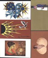 Télégrammes Illustrés Neufs + Enveloppe PTT Cesari LXNA LXN1 LXM2 LXV1 LXG2 Jean Picard Le Doux LXG LXG3 LXA LXM - Telegramas Y Teléfonos