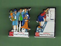 UAP PREVENTION *** Lot De 2 Pin's Differents *** 0088 (25) - Banche