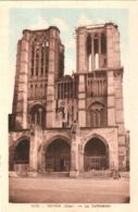 CPA 60 (Oise) Noyon - La Cathédrale Avec Des Travaux TBE Couleur. Photo-édition à Précy-sur-Oise - Noyon