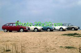 CITROEN GS .......................CINQ SUR UNE SEULE PHOTO 20x30 Cm EN 1975 - Auto's