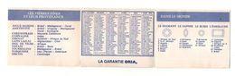 Publicité Bijoux Oria Avec Calendrier 1974 - Format : 8.5x7 Cm - Kalenders