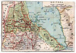 AFRICA ORIENTALE ITALIANA - CARTINA DELL' ERITREA / MAP - Erythrée