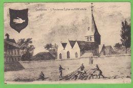 DOTTIGNIES   -   L' Ancienne Eglise Au XVIIIe Siècle - Andere