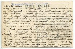 """Sur CPA SALONIQUE 1916 * Cachet Transport Hôpital """" DIVONA """" - Cachet Postal Sur Timbre Grèce - Marcophilie (Lettres)"""