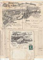 """Facture Illustrée """"Manufacture De Lits En Cuivre DEPARDON, 9-17 Bd St. Jacques - Paris 14è Avec Son Env. également Illus - 1900 – 1949"""