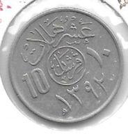 *saudi Arabia 10 Halala AH1392   Km 46  Unc - Saudi-Arabien