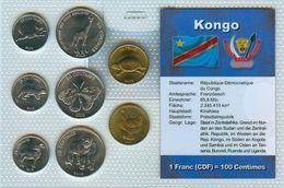Kursmünzensatz Kongo KMS Mit Zertifikat - Congo (Repubblica Democratica 1998)