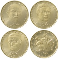 Set Of Commemorative 20 Korun Coins 2019 (3 Coins) UNC Czech Republic - Czech Republic