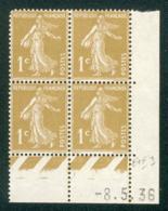 Lot C410 France Coin Daté Semeuse N°277A(**) - 1930-1939