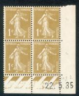 Lot C413 France Coin Daté Semeuse N°277A(**) - 1930-1939