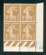 Lot C421 France Coin Daté Semeuse N°277B(**) - 1930-1939